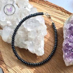 Hematite Rondelle Beaded Bracelet